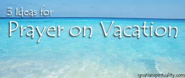 prayer on vacation - beach scene