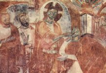 Healing of the Deaf-Mute fresco by Meister von Mustair, public domain