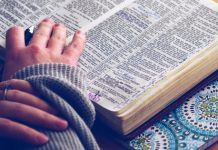 studying Bible during prayer