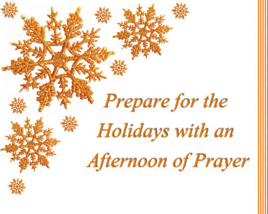 pre-holiday afternoon of prayer