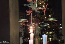 Advent candles and angels