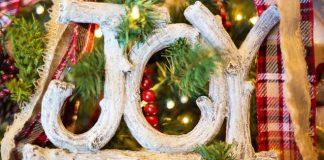 Christmas joy ornament