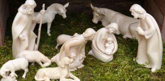 Nativity scene outdoors