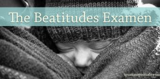 Beatitudes Examen - baby snuggled with mother
