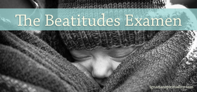 Beatitudes Examen - baby snuggled with mother