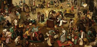 """Arts & Faith: Ash Wednesday - Pieter Brueghel the Elder - """"The Fight Between Carnival and Lent"""""""