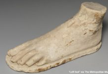 """Left foot"" via The Metropolitan Museum of Art is licensed under CC0 1.0."