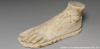"""Left foot"" via The Metropolitan Museum of Art is licensed under CC0 1.0."