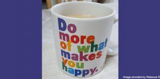 Rebecca's coffee mug