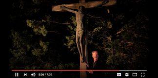 Michael Sparough, SJ, at the foot of the crucifix - video screenshot