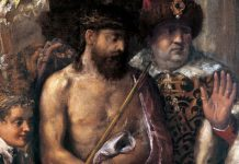 Ecce Homo by Titian - partial view