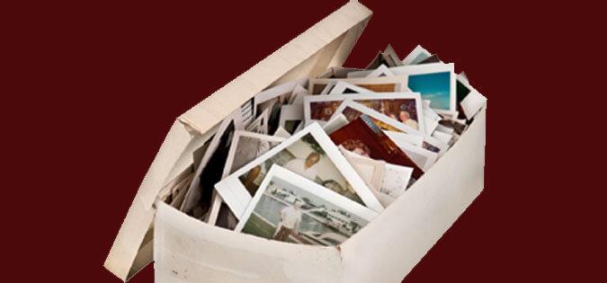 box of old photos