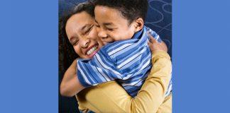 joyful hug