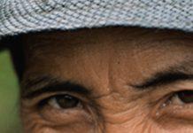 man's eyes
