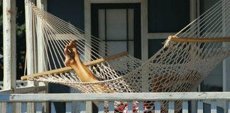 resting in hammock