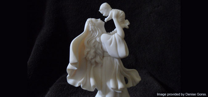 Statue of Mary with baby Jesus - image provided by Denise Gorss