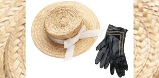 straw hat and gloves