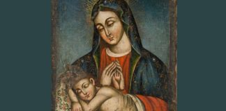 Holy Mother Mary with Child Jesus by unknown Armenian painter - Public domain via Wikimedia Commons