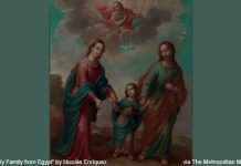 """The Return of the Holy Family from Egypt"" by Nicolas Enriquez - via The Metropolitan Museum of Art - licensed under CC0 1.0"