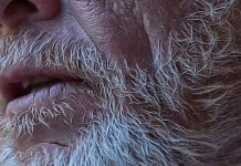 older man closeup