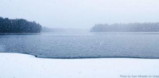 frozen lake - winter chill