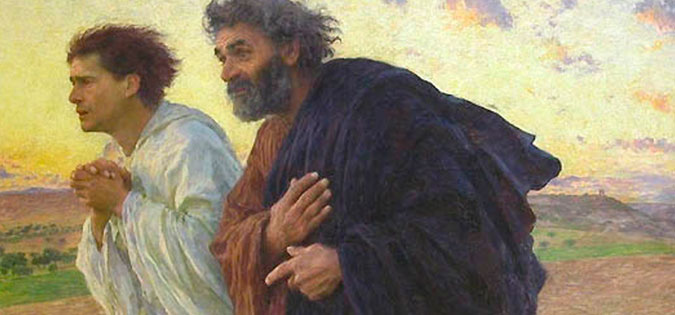 The Disciples Peter and John Running to the Sepulchre on the Morning of the Resurrection by Eugene Burnand