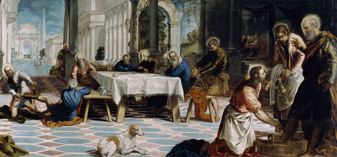 Christ Washing the Disciples' Feet by Tintoretto
