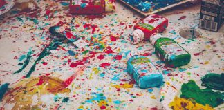 mess of paint