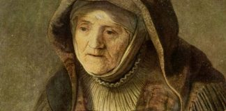 """The Prophetess Anna"" by Rembrandt [cropped], public domain via Wikimedia Commons"