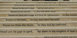 Beatitudes steps of the MEEI church - photo by James Emery from Douglasville United States under CC BY 2.0