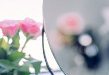 mirror and flowers
