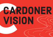 Cardoner Vision - words next to river image