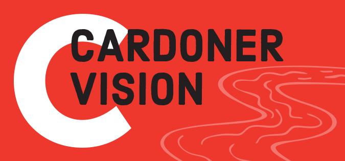 Cardoner Vision - words next to river image