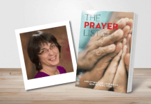 The Prayer List by Jane Knuth - book cover and author photo