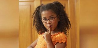 shh - girl gestures for silence
