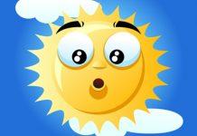 surprised face on the sun