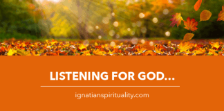 Listening for God in Nature - autumn leaves