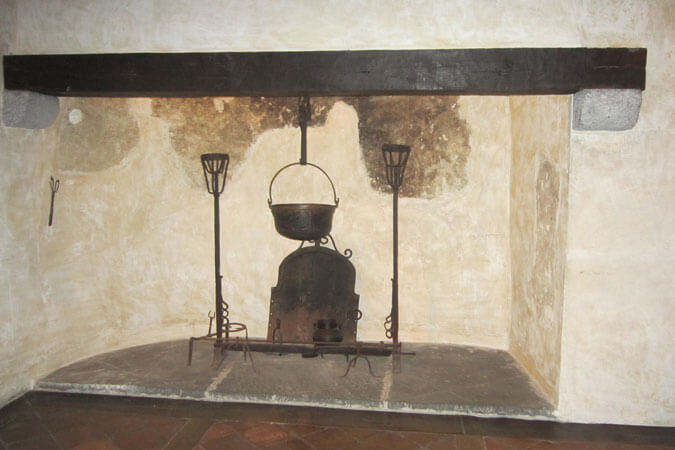 family hearth in St. Ignatius Loyola's birthplace