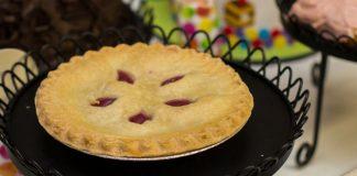 pie on serving platter