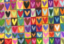 colored hearts - love