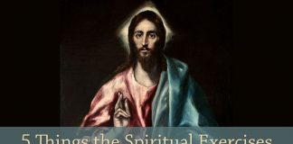 """El Salvador"" by El Greco, public domain via Wikimedia Commons - text: 5 Things the Spiritual Exercises Taught Me About Jesus"