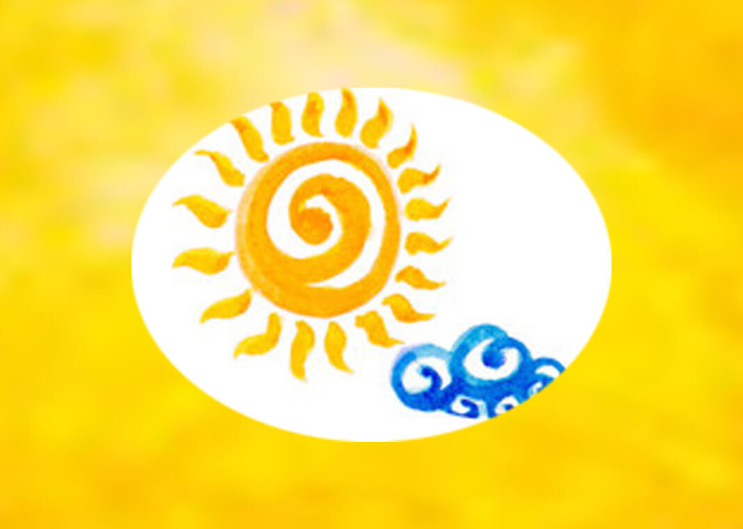 sun and clouds - weather symbols