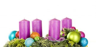 Advent wreath - candles all purple