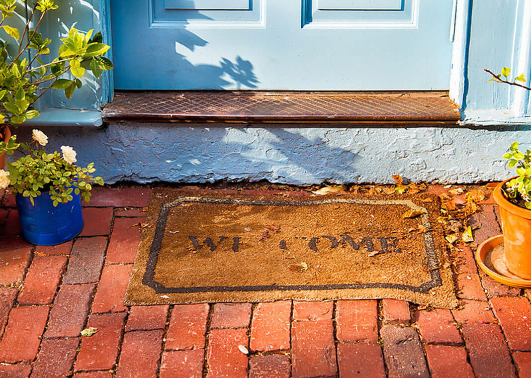 autumn welcome mat