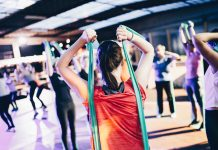 resistance training in a fitness class - photo by Geert Pieters on Unsplash