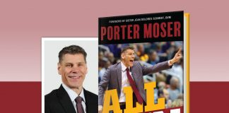 All In: Driven by Passion, Energy, and Purpose by Porter Moser - book cover and author headshot