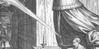 St. Ignatius reading and recuperating