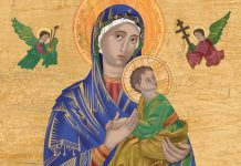Our Lady of Perpetual Help illustration - © Loyola Press. All rights reserved.