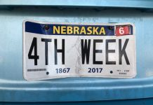 4th week license plate - image courtesy of Lisa Kelly