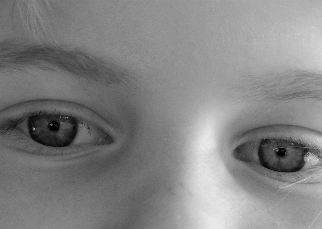 child's eyes via Pixabay